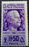 Afrique Orientale Italienne Africa Italiana 1938 Yvert 10 * MH - Eastern Africa