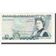 Billet, Grande-Bretagne, 5 Pounds, KM:378c, TTB - 1952-… : Elizabeth II