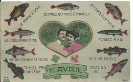 CARTE FANTAISIE ...PREMIER AVRIL - 1er Avril - Poisson D'avril