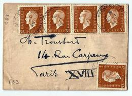 Lettre Oblit.9.1.1946  Avec N°683  Yvert Marianne De Dulac 30c Bistre - Francia