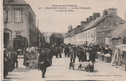 ***  50  ***  Beaumont Hague La Rue Principale Jour De Marché  Neuve TTB - Beaumont