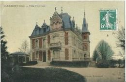60 CPA CLERMONT Villa Tisserand Carte Couleur - Clermont