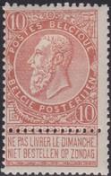 Belgie   .  OBP  .   57      .    *   .     Ongebruikt Met Plakker    .  /   .  Neuf Avec Charniere - 1893-1900 Schmaler Bart
