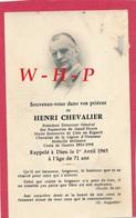 AVIS DE DECES - LISLE En RIGAULT  01 Avril 1965 - HENRI CHEVALIER  PDG Papeteries De Jeand'heurs - Maire De Lisle - Todesanzeige