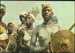POSTCARD GUINE BISSAU  Femme Noir  Seins Nue Nu - Black Nude Breasts Woman AFRICA STAMPED TIMBRE - Guinea-Bissau