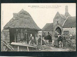 CPA - PENMARCH - Ferme Bretonne (Ancien Manoir) - Dîme Agricole Du Moyen-Age De Portz Lambert, Très Animé - Penmarch