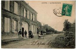 JUNIVILLE-La Gendarmerie- Voyagee 1911 Ed Goulet-Turpin - France