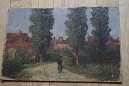 Com Empir/ Huile Sur Carton SMETANA Léopold 1867 1948 Impressionniste  Coté Artprice Akoun Old Oil - Huiles