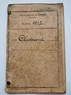 Carnet Ministère De La Guerre 1917 - 1914-18