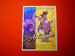 ETIQUETTE BIERE / D'ARTAGNAN / LA CHOULETTE / FRANCE - Bière