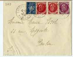 Lettre Oblit.13.02.1942  Avec N°510 Et 505  Type Pétain - Francia