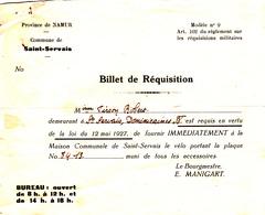 Province De Namur Commune De Saint-Servais - Oude Documenten