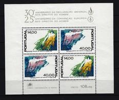 PORTUGAL Mi-Nr. Block 24 - 30. Jahrestag Der Allgemeinen Erklärung Der Menschenrechte Postfrisch - Blocks & Kleinbögen
