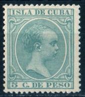 Cuba 1891 Alphonse XIII 5c Vert  YT 82 MNH - Cuba