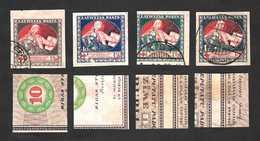 "Latvia 1920 ""Mercy"" On Pink Paper, Complete Set ... Mi.51x-54x (Sc.B9-B12) - Latvia"