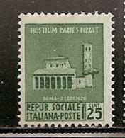 REP SOCIALE  ITALIE  N°   28  OBLITERE - 1944-45 République Sociale