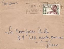 Congo 1962 Pointe Noire Harbour Beach Slogan Allegory Cover Missent Monte Carlo Monaco - Congo - Brazzaville
