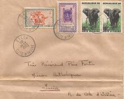 Cote D'Ivoire 1963 Daloa Mask Baoule Guere Elephant Cover - Ivoorkust (1960-...)