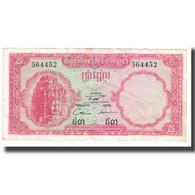 Billet, Cambodge, 5 Riels, KM:10a, TTB - Cambodia