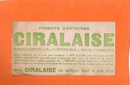 """BUVARD. LA SENTINELLE ( NORD ) PRODUIT D'ENTRETIEN """" CIRALAISE """"  Achat Immédiat - Wash & Clean"""