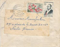 Gabon 1962 Franceville President Leon Mba 15f Liana Combretum Cover - Gabon (1960-...)