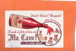 "BUVARD. LE VIN  "" MA CAVE ""  Achat Immédiat - Buvards, Protège-cahiers Illustrés"