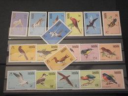 ANGUILLA - 1985/6 UCCELLI 4+5+8+1 VALORI - NUOVI(++) - Anguilla (1968-...)