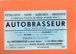 """BUVARD. LENS ( P-de-C ) BOISSON   """" AUTOBRASSEUR """"  Achat Immédiat - Limonades"""