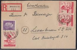 DR R-Brief Mif Minr.785,3x 906 München 20.11.44 Gel. Nach Leverkusen - Deutschland