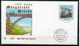 """First Day Cover Germany 1997 Mi.Nr.1931""""Brücken-100 Jahre Müngstener Brücke""""EtSt. Berlin """" 1 FDC - Brücken"""