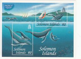 1997 Solomon Islands  Whales Souvenir Sheet  MNH - Islas Salomón (1978-...)