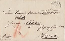 Preussen Brief K1 Unna 11.6. Gel. Nach Hamm - Preussen