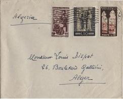 ITALIE BEL AFFRANCHISSEMENT MULTIPLE  OBLITERE POUR L'ALGERIE - 1946-.. République