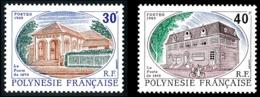 POLYNESIE 1988 - Yv. 322 Et 323 ** SUP  Faciale= 0,59 EUR - La Poste De 1875 Et De 1915 (2 Val.)  ..Réf.POL23987 - Polynésie Française