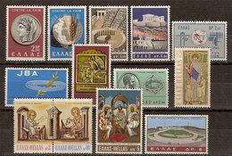 (Fb).Grecia.1963/70.Lotto Di 7 Serie Complete.13 Val Nuovi,gomma Integra,MNH (223-18) - Grèce