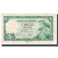 Billet, Espagne, 5 Pesetas, 1954, 1954-07-22, KM:146a, TTB - [ 3] 1936-1975 : Régence De Franco