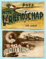 2x AALST : Mijne Vriendschap Uit Aalst + Amitiés D'Alost - Aalst