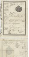 Wittisheim 1822 Passeport Nicolas Haumesser Maire Fondeur D'étain - Documents Historiques
