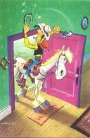 Lucky Luke,  Een Van De Stripfiguren Uit De PEP (het Raster Op De Kaart Is Veroorzaakt Door Het Scannen;) - Stripverhalen