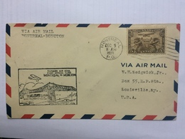 CANADA 1929 First Flight Cover - Montreal To Moncton - 1911-1935 George V