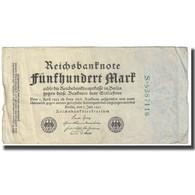 Billet, Allemagne, 500 Mark, 1922, 1922-07-07, KM:74b, TTB - [ 3] 1918-1933 : República De Weimar