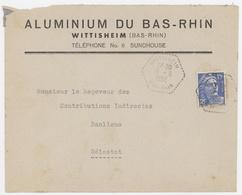 Aluminium Du Bas-Rhin Wittisheim Bas-Rhin 1952 - Marcophilie (Lettres)