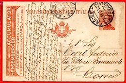 1923 - RARA CARTOLINA POSTALE PUBBLICITARIA ACCUMULATORI HENSEMBERGER - INTERO POSTALE - Ganzsachen