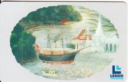 THAILAND(chip) - Boat, Rattanakosin Painting, Lenso Telecard 250 Baht, Used - Boats