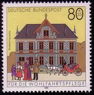 1566 Postamt Lauscha 80+35 Pf ** - [7] République Fédérale