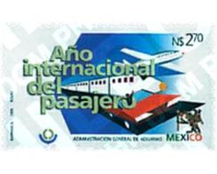 Ref. 75215 * MNH * - MEXICO. 1995. INTERNATIONAL YEAR OF THE PASSENGER . AÑO INTERNACIONAL DEL PASAJERO - Treni