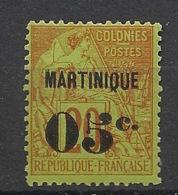 Martinique - 1888-91 - N°Yv. 4 - 05 Sur 20c Brique - Neuf * / MH VF - Neufs