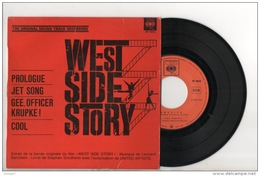 DISQUE 45T . WEST SIDE STORY . THE ORIGINAL SOUND TRACK RECORDING - Réf. N°3D - - Musica Di Film