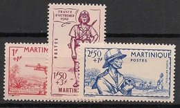 Martinique - 1941 - N°Yv. 186 à 188 - Défense De L'empire - Neuf Luxe ** / MNH / Postfrisch - Martinique (1886-1947)