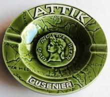 Ancien Cendrier Publicitaire ATTIK CUSENIER Céramique France Aubagne Provence N°67 - Porcelain